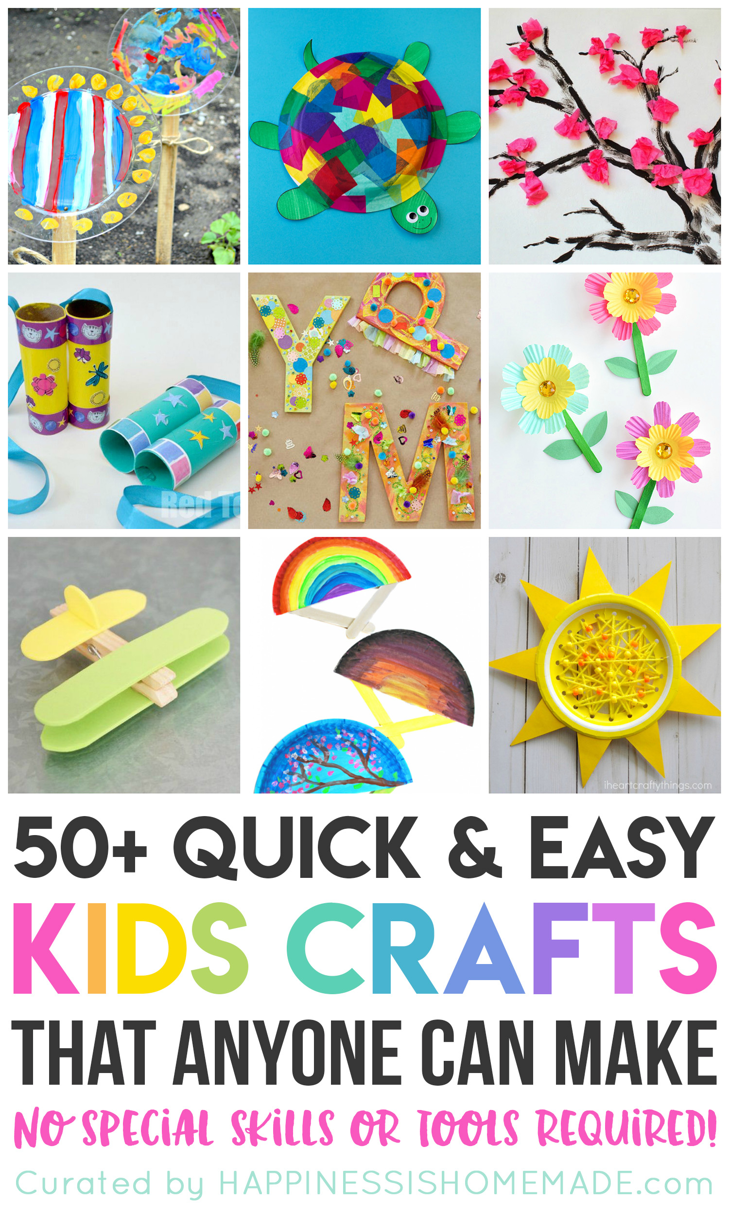 10 Great Easy Arts And Craft Ideas 50 quick easy kids crafts that anyone can make happiness is 2021