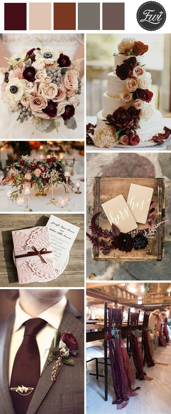 10 Stylish Vintage Wedding Ideas For Fall 50 refined burgundy and marsala wedding color ideas for fall brides 1 2020
