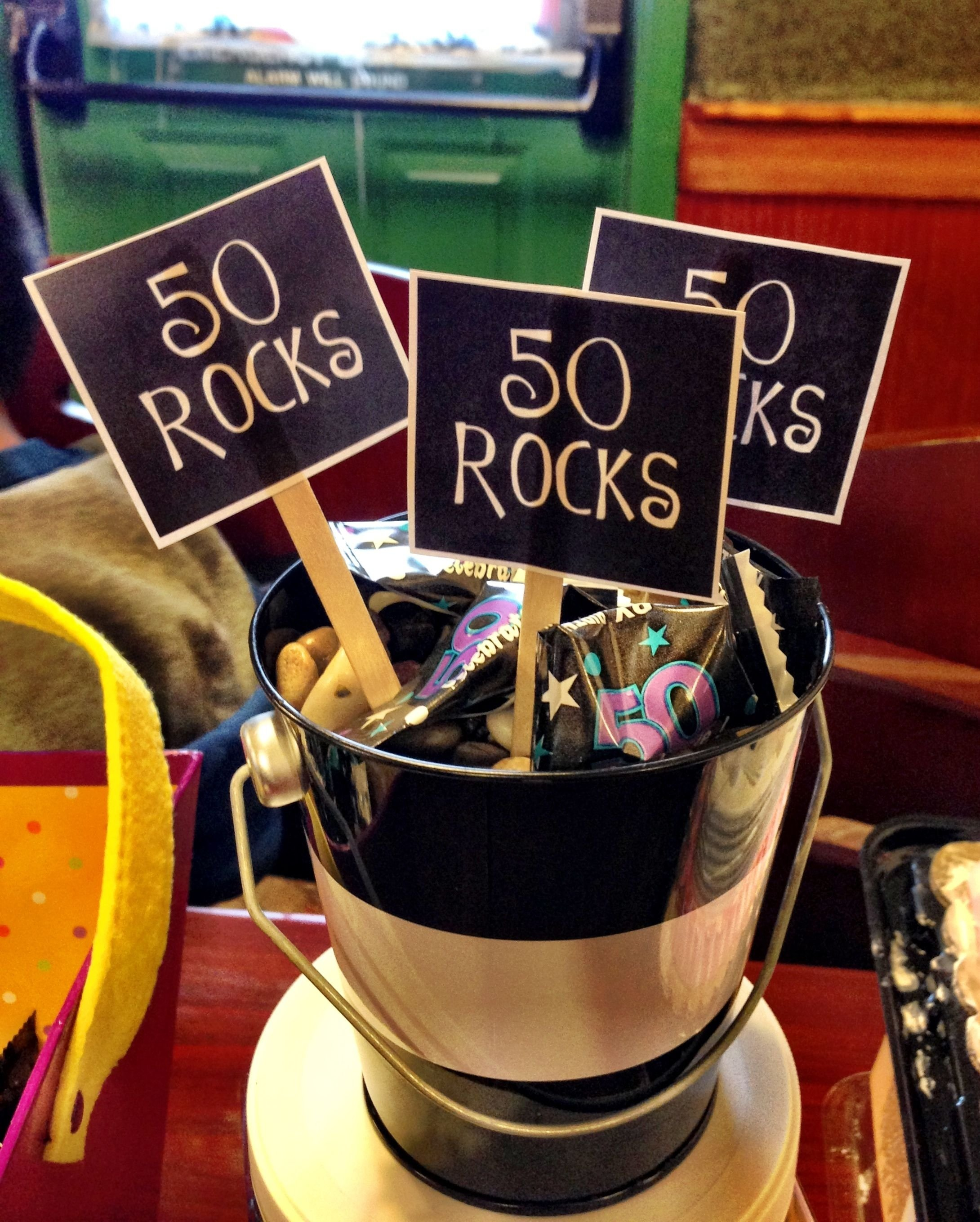 10 Great 50 Year Old Party Ideas 50 rocks birthday present ideas for 50 year old craftyideas 2020