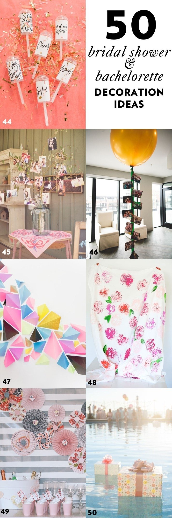 10 Most Recommended Bridal Shower Decoration Ideas Diy 50 simple and stylish diy bridal shower bachelorette decoration