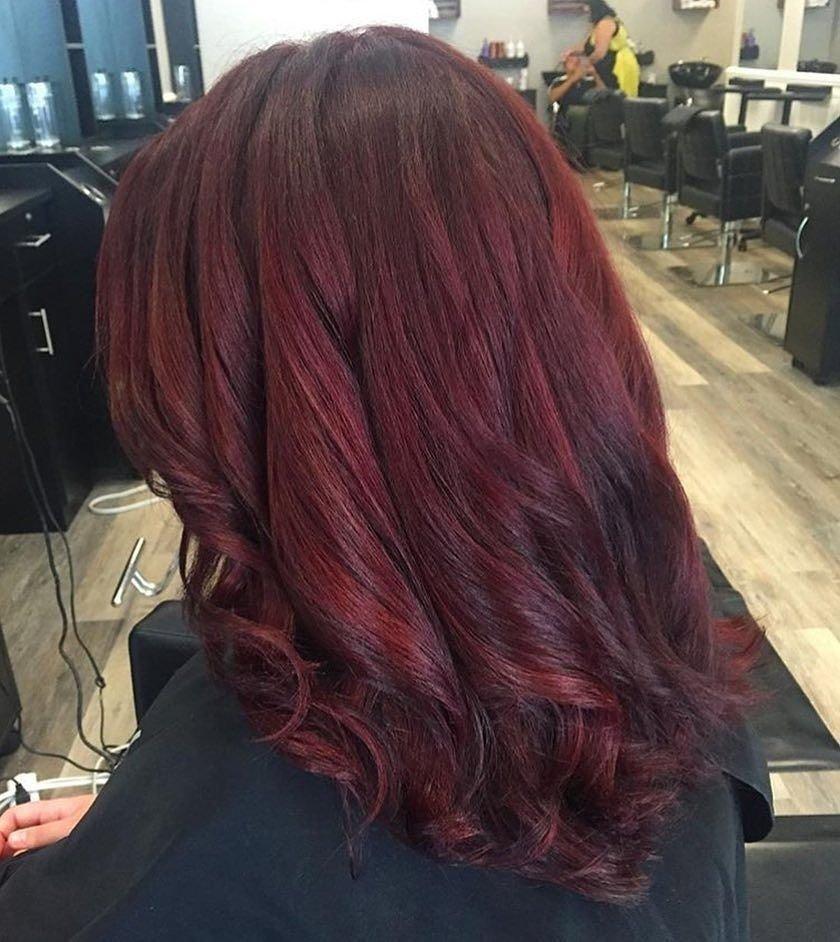 10 Amazing Dark Red Hair Color Ideas 50 striking dark red hair color ideas bright yet elegant colors 2021