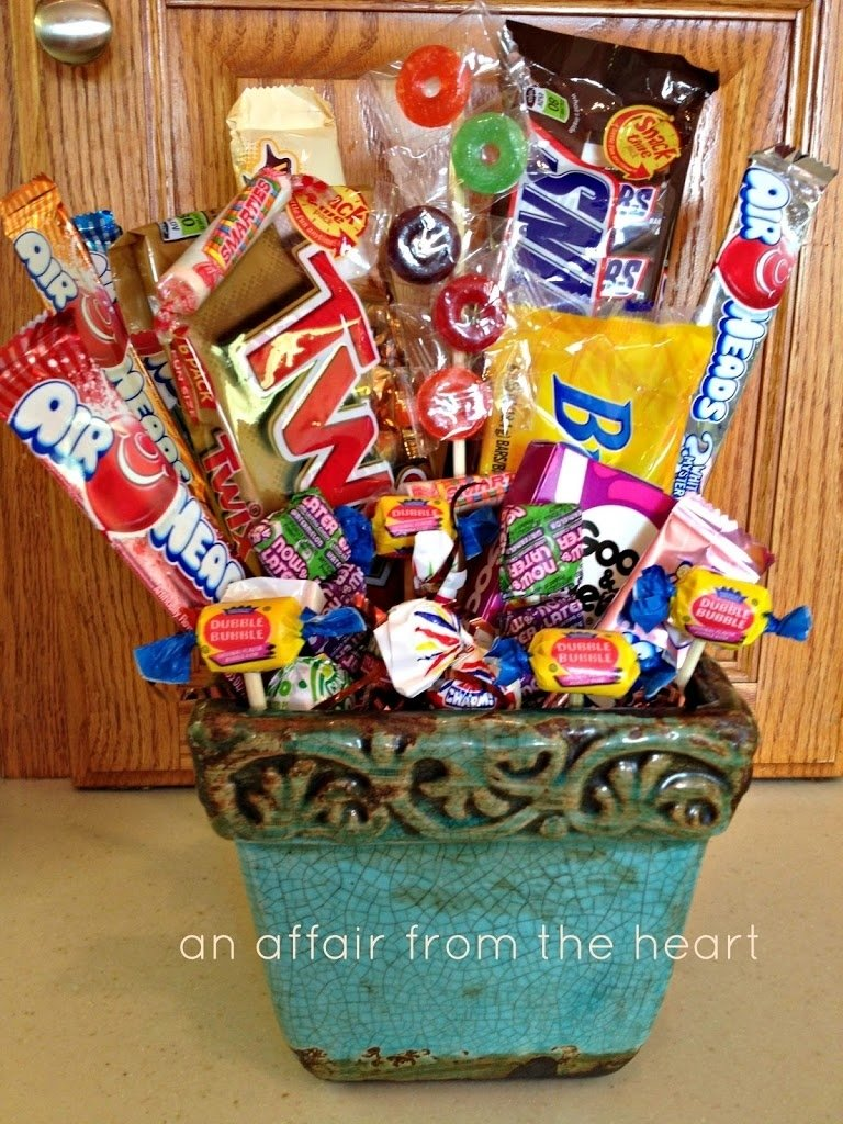10 Pretty 50Th Birthday Party Gift Ideas 50th birthday candy basket and poem birthday candy 50th and birthdays 2020