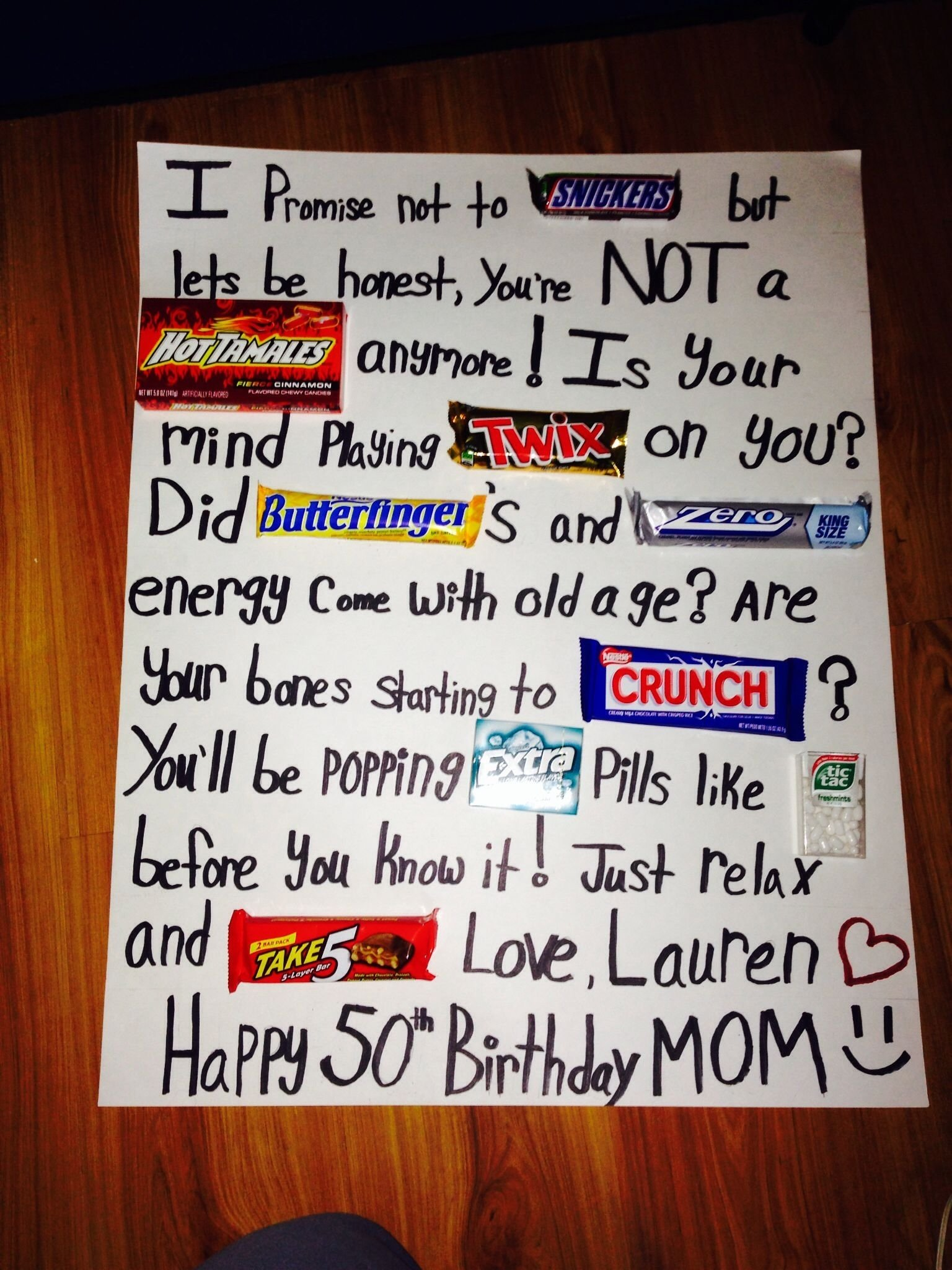 10 Lovable Cute Birthday Ideas For Mom 50th Candy Poster Board So And Easy