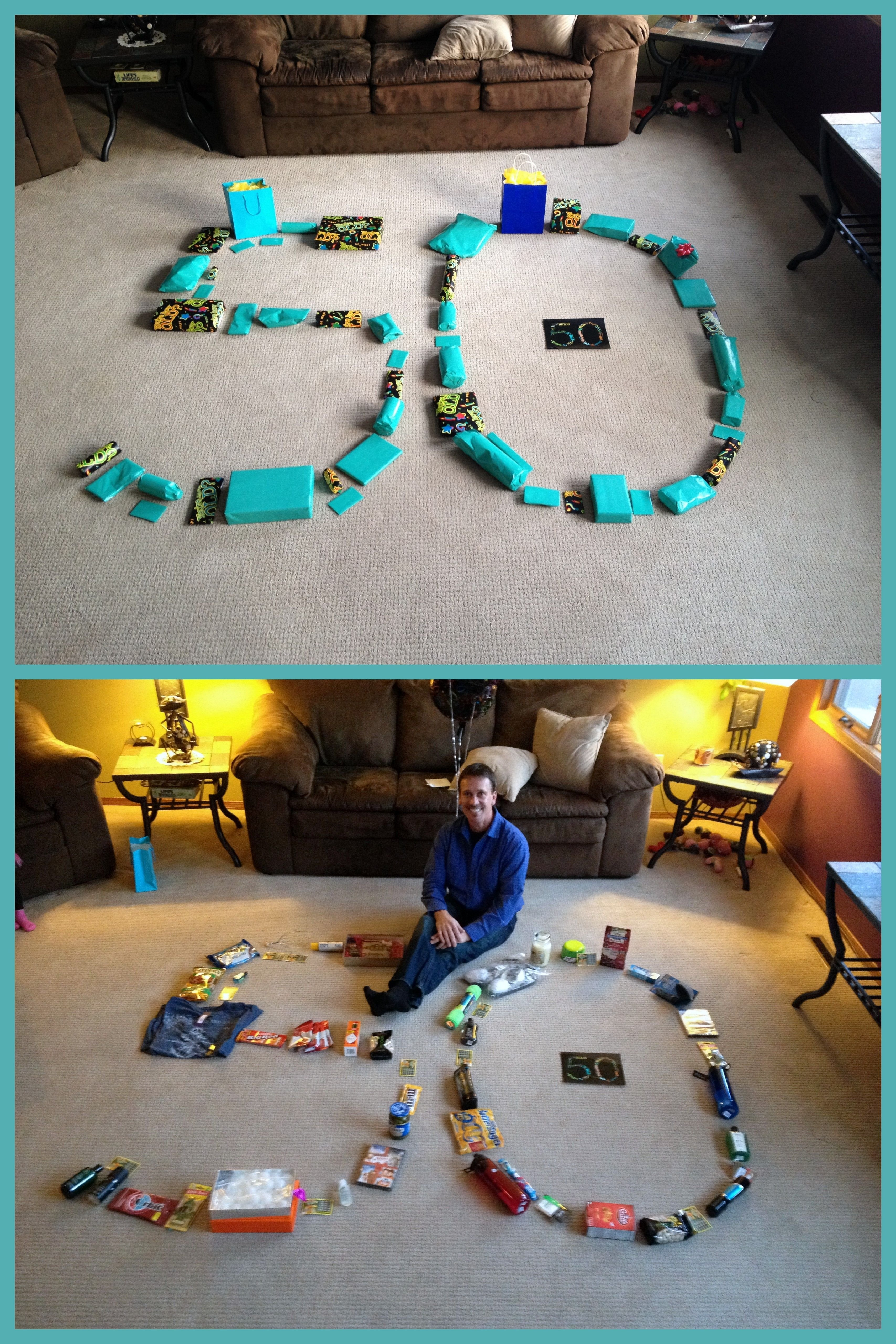 10 Unique 50Th Birthday Party Ideas For Dad 50th Gift 50 Gifts Shaped Like A