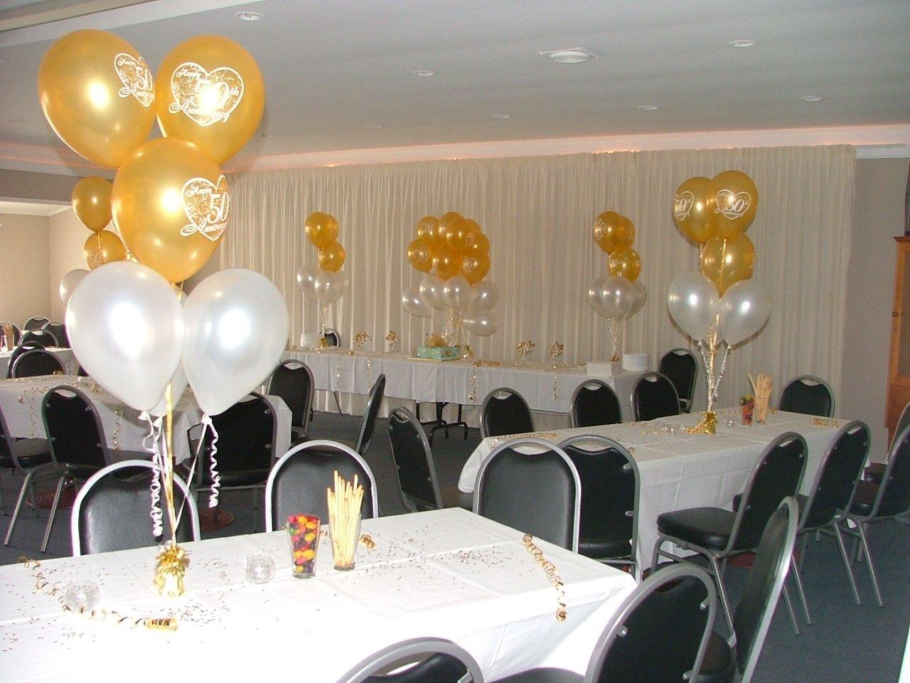 50th wedding anniversary decorating ideas - wedding decorations
