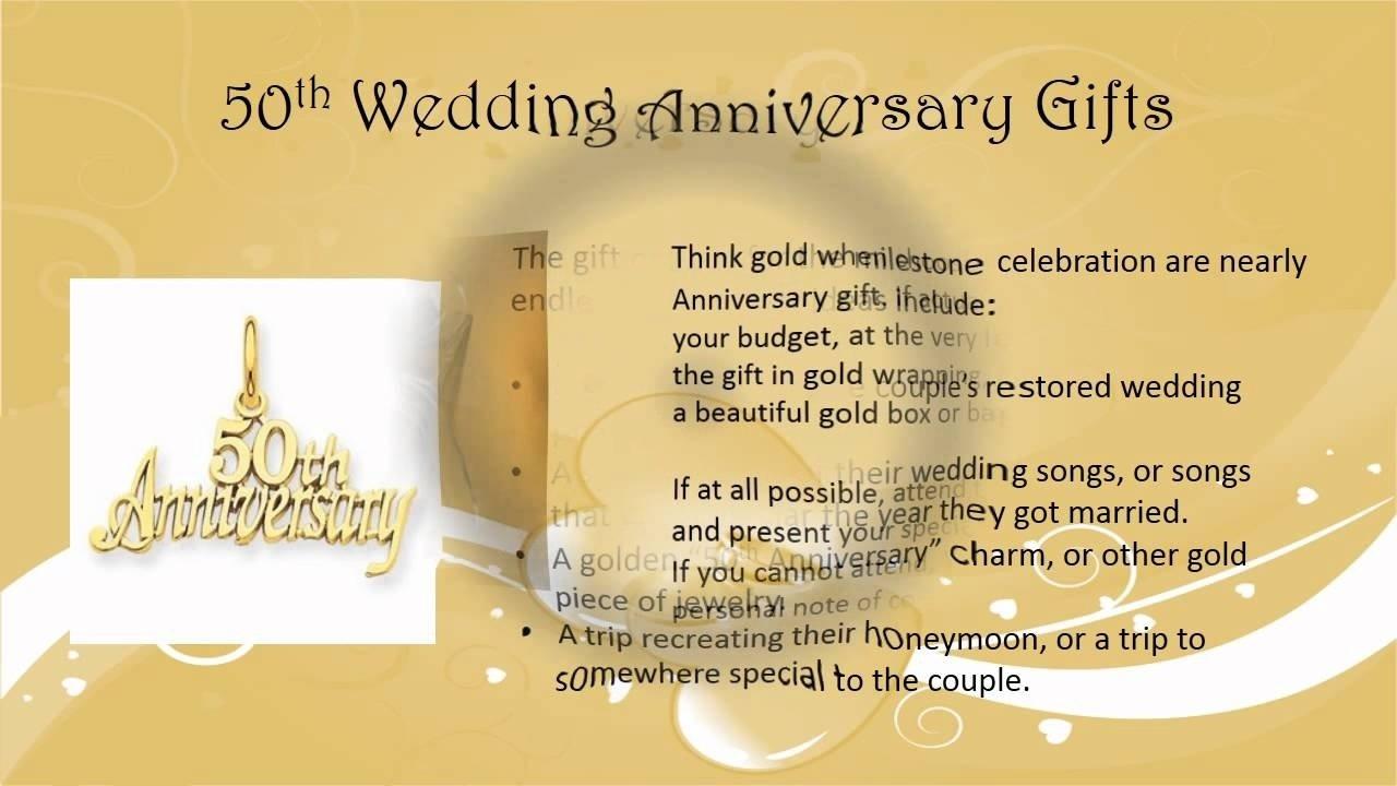 10 Cute 50Th Wedding Anniversary Gift Ideas Gold 50th wedding anniversary gift ideas youtube 2021