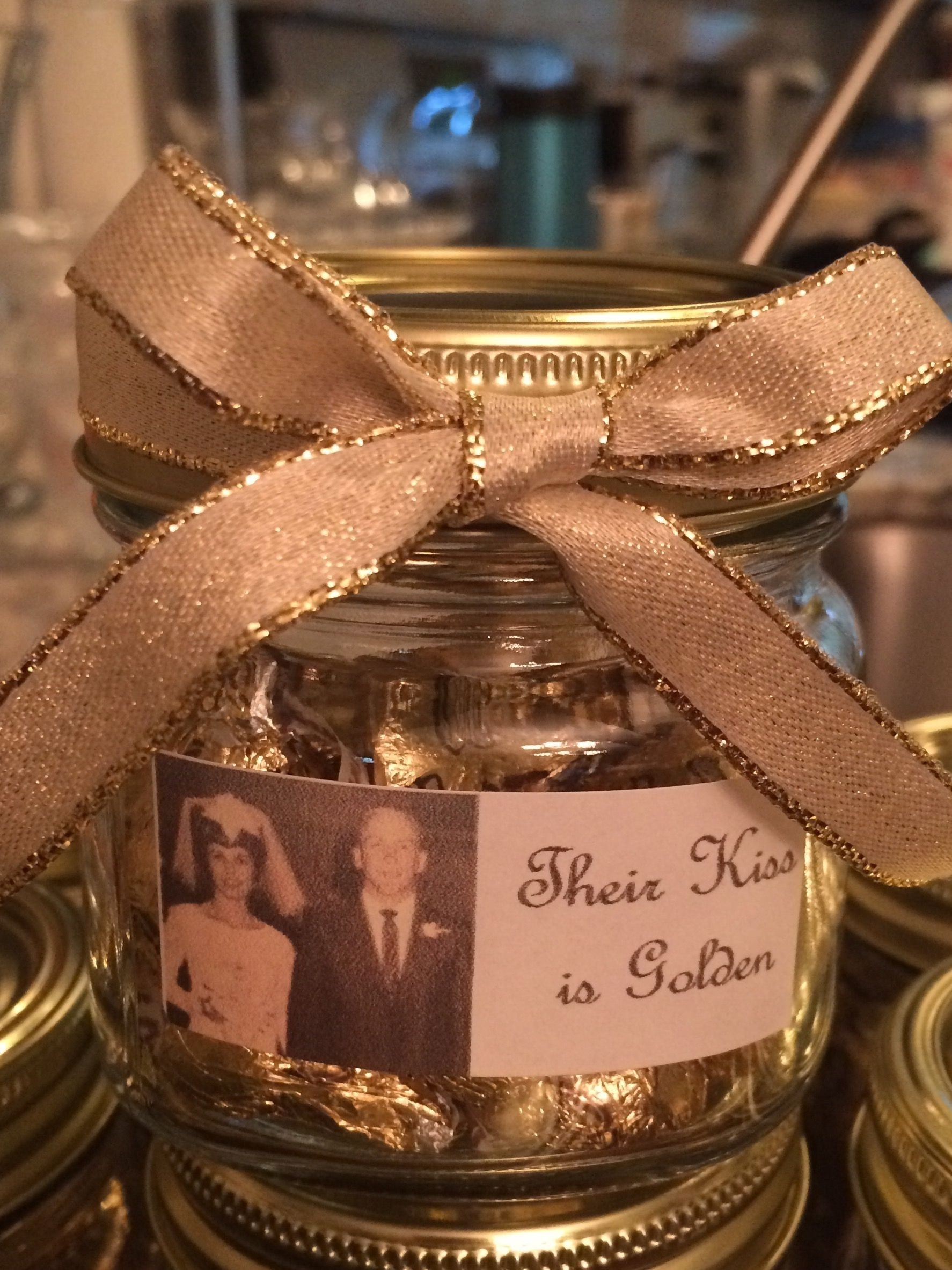 10 Famous 50Th Anniversary Party Favor Ideas 50th wedding anniversary party favor their kiss is golden