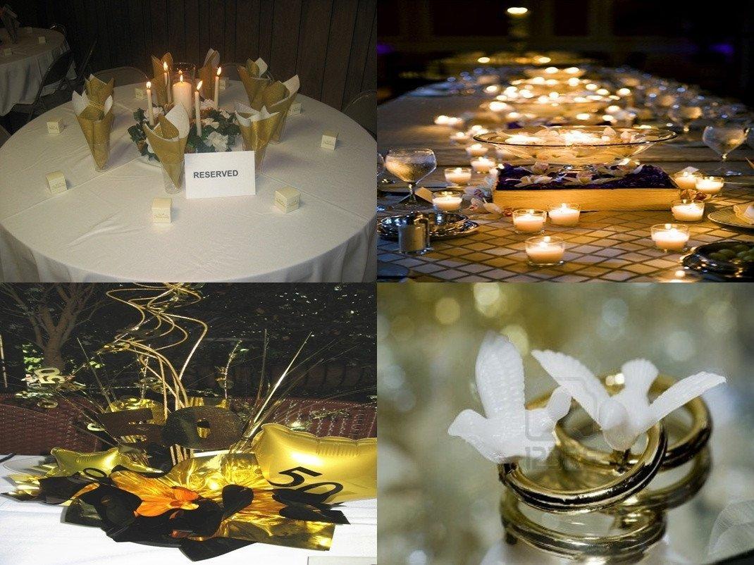 10 Pretty 50Th Wedding Anniversary Party Ideas