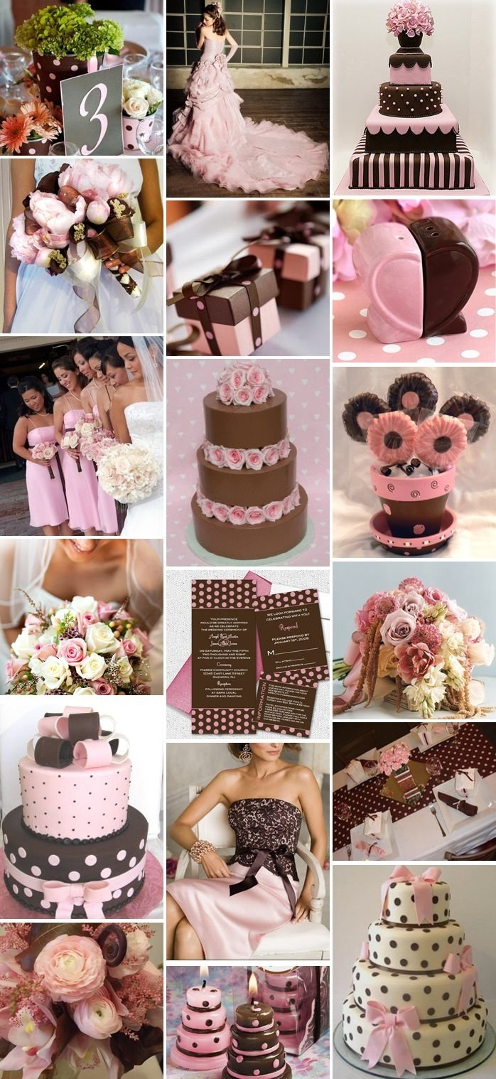 10 Fantastic Pink And Brown Wedding Ideas 51 best pink and brown wedding images on pinterest brown brown 2021