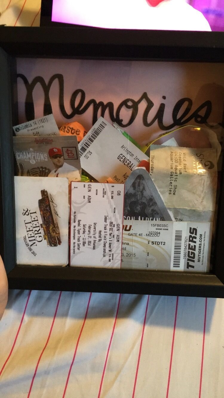 10 Fabulous Cute Cheap Gift Ideas For Boyfriend 51 diy shadow box ideas how to create ticket stubs shadow box 3