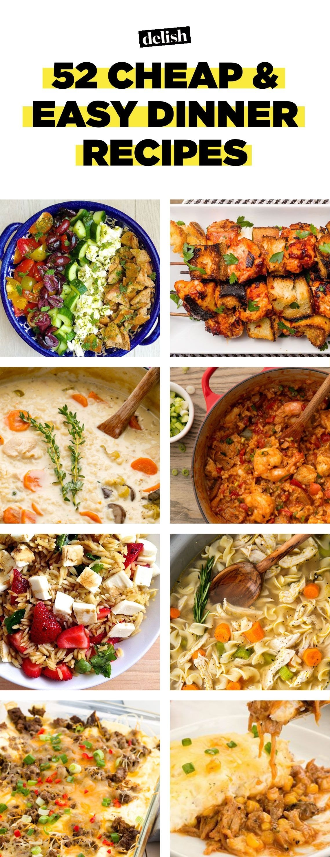 10 Trendy Cheap Dinner Ideas For 4 52 easy cheap recipes inexpensive food ideas delish 18 2020