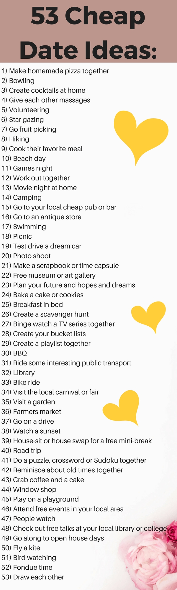 10 Elegant Fun Ideas For A Date 53 cheap date ideas that will rock your love life 2 2020