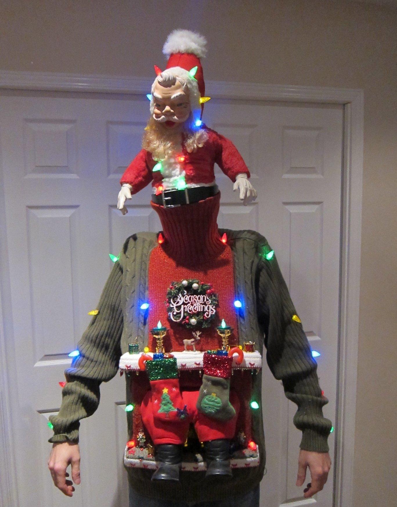 10 Stylish Ugly Christmas Sweaters Ideas Homemade 53 diy ugly christmas sweater ideas 3 2021