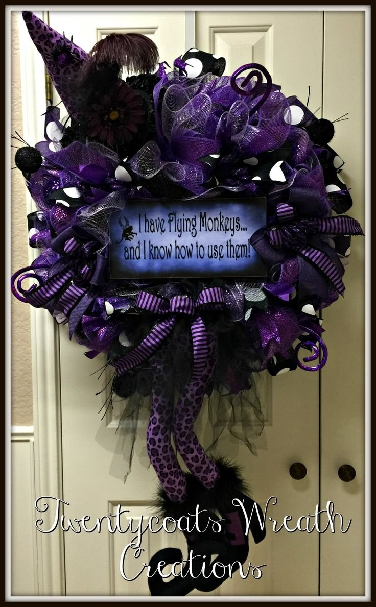 10 Most Recommended Deco Mesh Halloween Wreath Ideas 557 best halloween wreaths images on pinterest halloween wreaths 2021