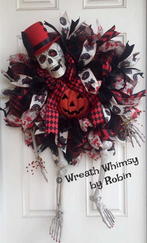 10 Unique Halloween Deco Mesh Wreath Ideas 599 best halloween deco mesh wreaths images on pinterest halloween 1