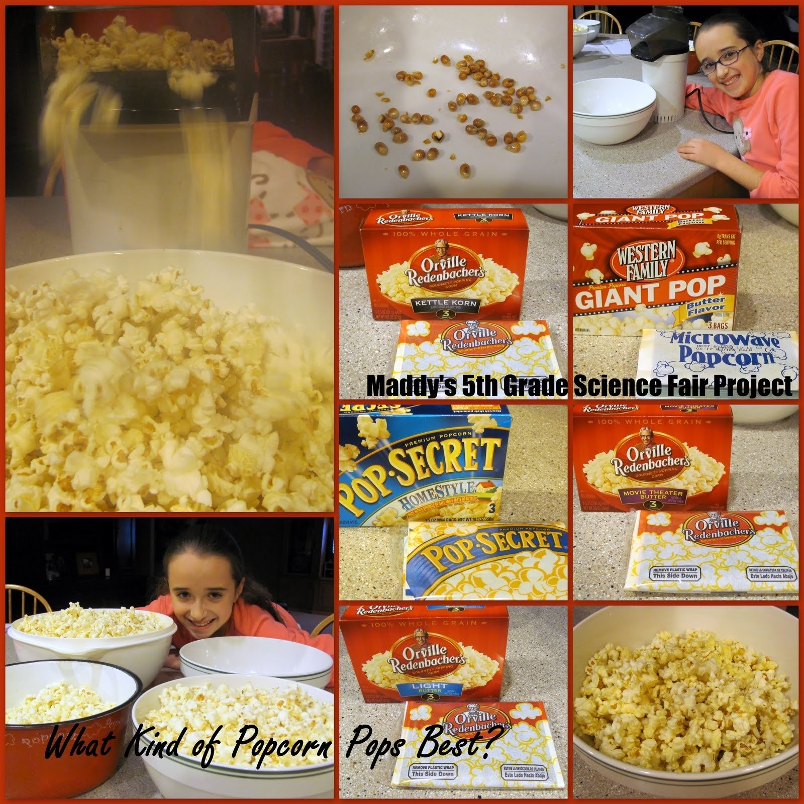 10 Attractive Science Fair Project Ideas With Food 5th grade science projects popcorn on top of that maddy had put