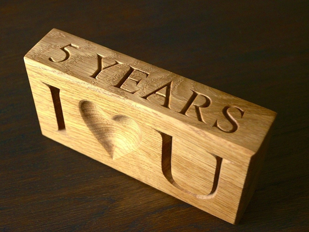 10 Stunning 5 Year Anniversary Ideas For Him 5th wedding anniversary wooden gift ideas makemesomethingspecial 2020