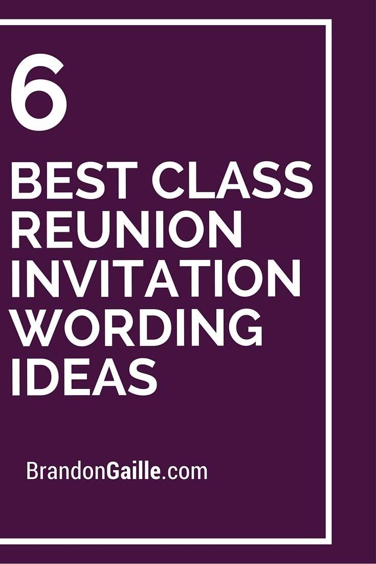 10 Beautiful 10 Year High School Reunion Ideas 6 best class reunion invitation wording ideas class reunion 4 2021
