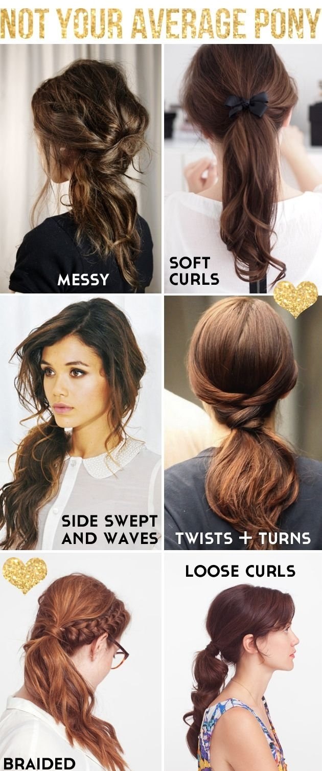 10 Fantastic Cute Ponytail Ideas For Medium Hair 6 cool ways to spruce up a boring ponytail pony ponytail and 2021