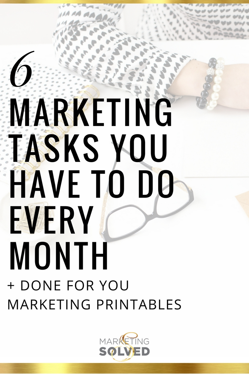 10 Stunning Business To Business Marketing Ideas 6 marketing tasks you have to do every month business business 2020