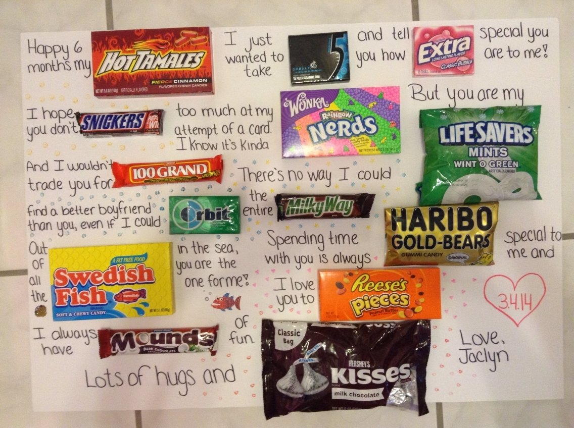 10 Fabulous 6 Month Anniversary Ideas For Him 6 month anniversary card for my boyfriend i try to be cute 2020