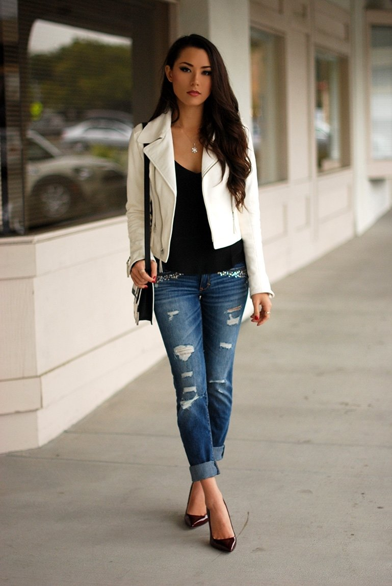 10 Great Outfit Ideas For Winter 2013 6 ways to dress up in a boring shirt white leather leather 2020