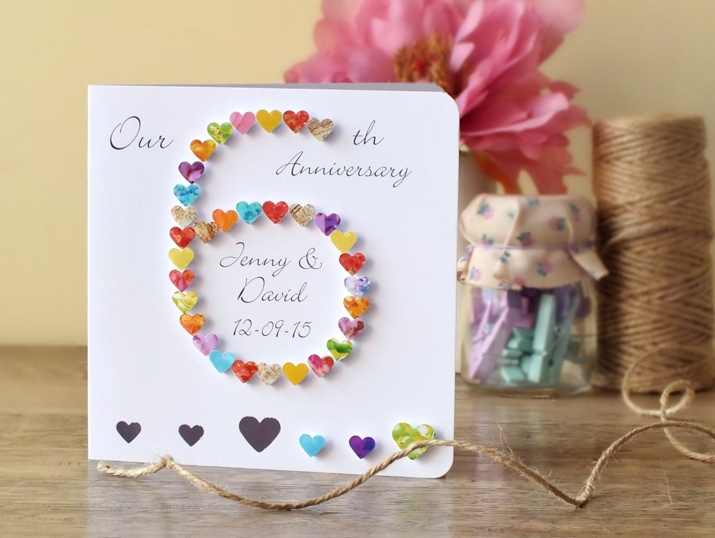 10 Attractive 6 Year Wedding Anniversary Gift Ideas 6 wedding anniversary gift ideas unique 6th wedding anniversary card 2020