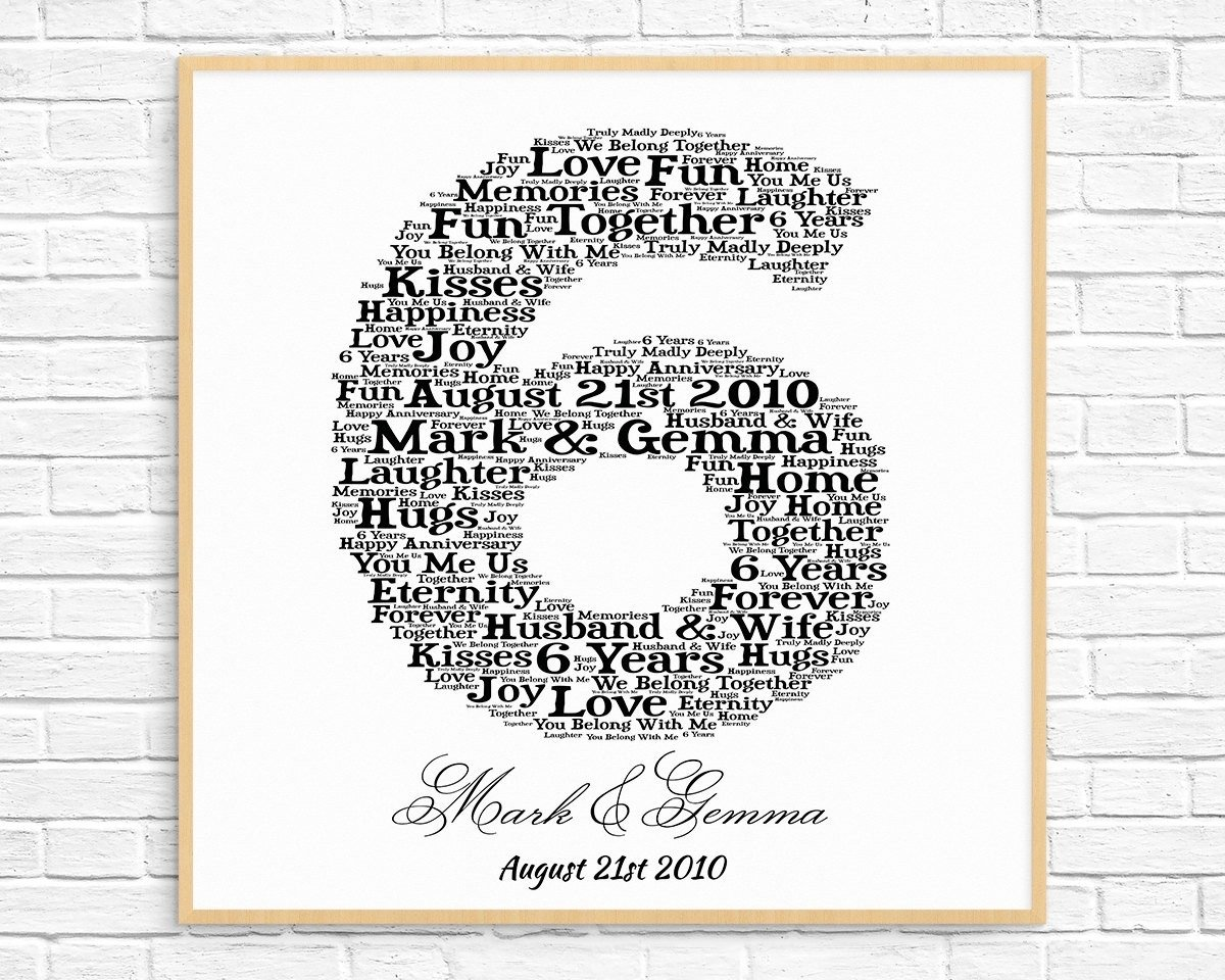 10 Unique 6Th Year Anniversary Gift Ideas 6 years wedding anniversary gift unique personalized 6th anniversary 2021