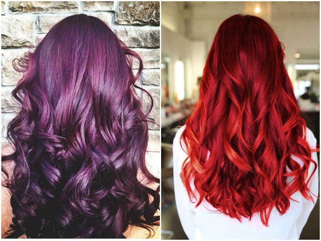 10 Amazing Dark Red Hair Color Ideas 60 burgundy hair color ideas maroon deep purple plum burgundy 1 2021