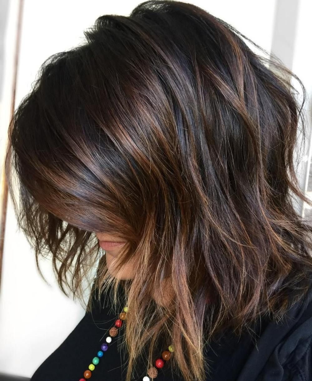10 Pretty Black Hair With Highlights Ideas
