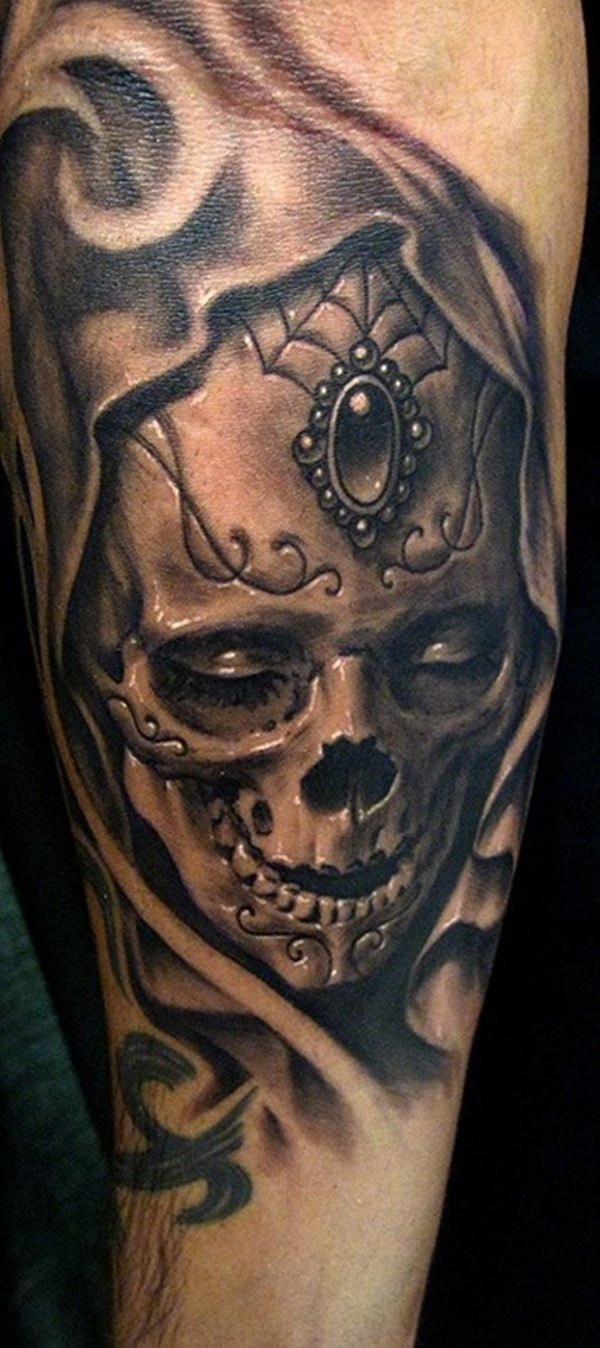 10 Fashionable Day Of The Dead Tattoo Ideas 60 day of the dead tattoos you will want to get asap 2021