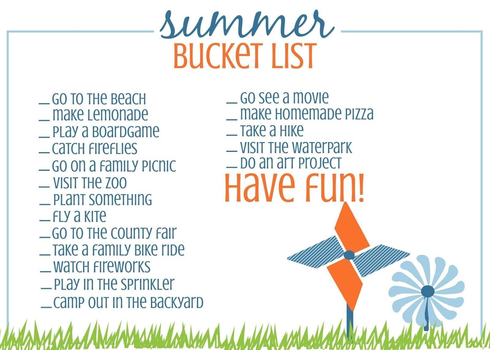 10 Spectacular Bucket List Ideas For Girls 60 days of summer fun 4 the summer bucket list palnyc 2021