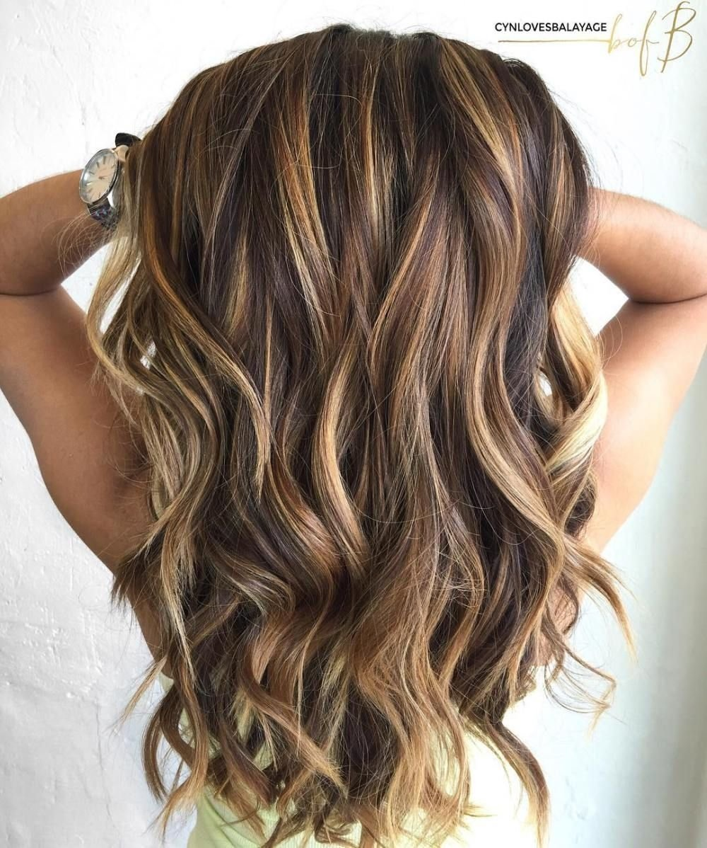 10 Stunning Hair Highlight Ideas For Brown Hair 60 looks with caramel highlights on brown and dark brown hair long 1 2020