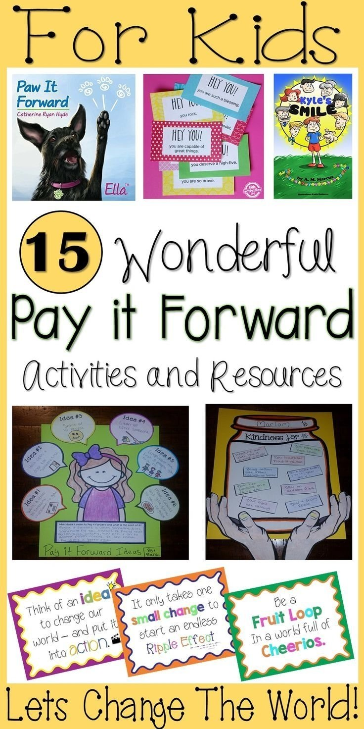 10 Nice Pay It Forward Project Ideas 607 best acts of kindness for kids and you images on pinterest 2020