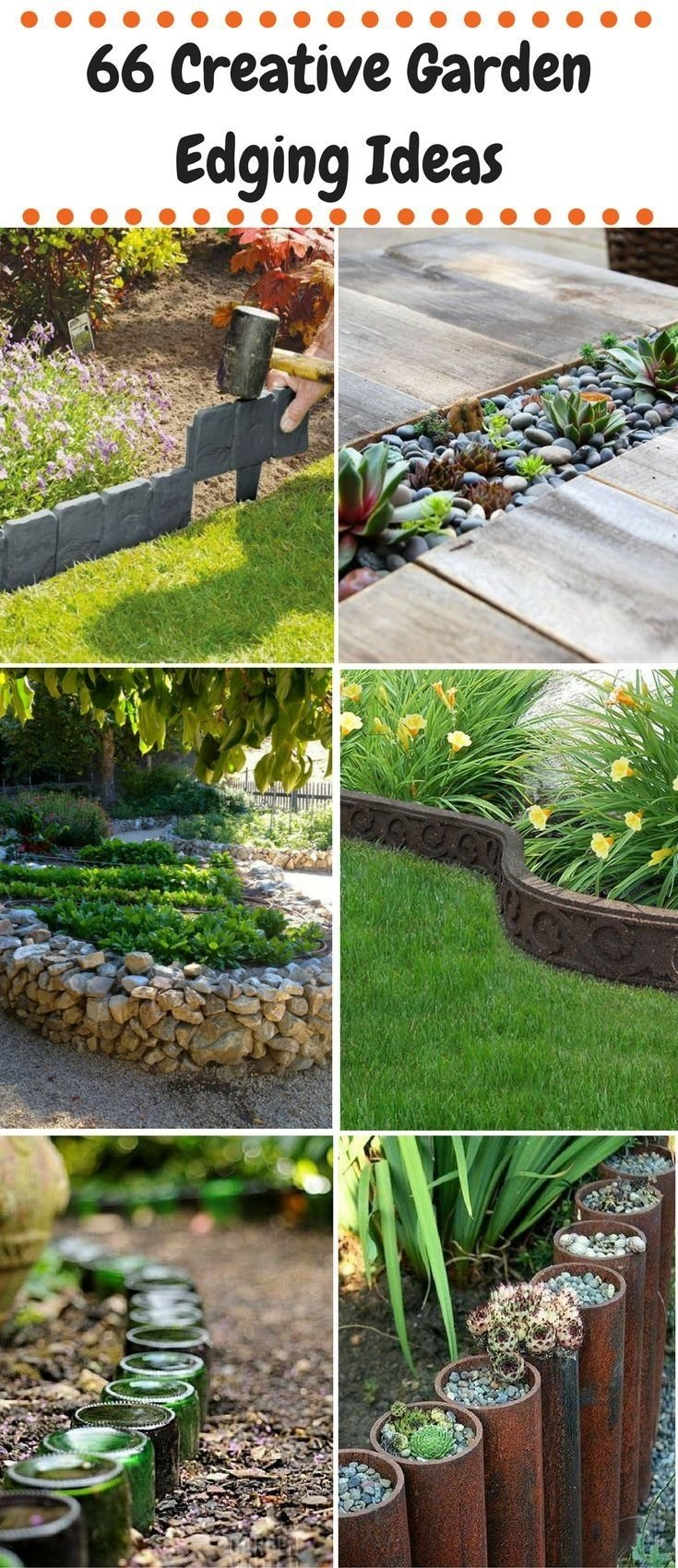 10 Stylish Edging Ideas For Flower Beds 609 best garden edging ideas images on pinterest garden edging