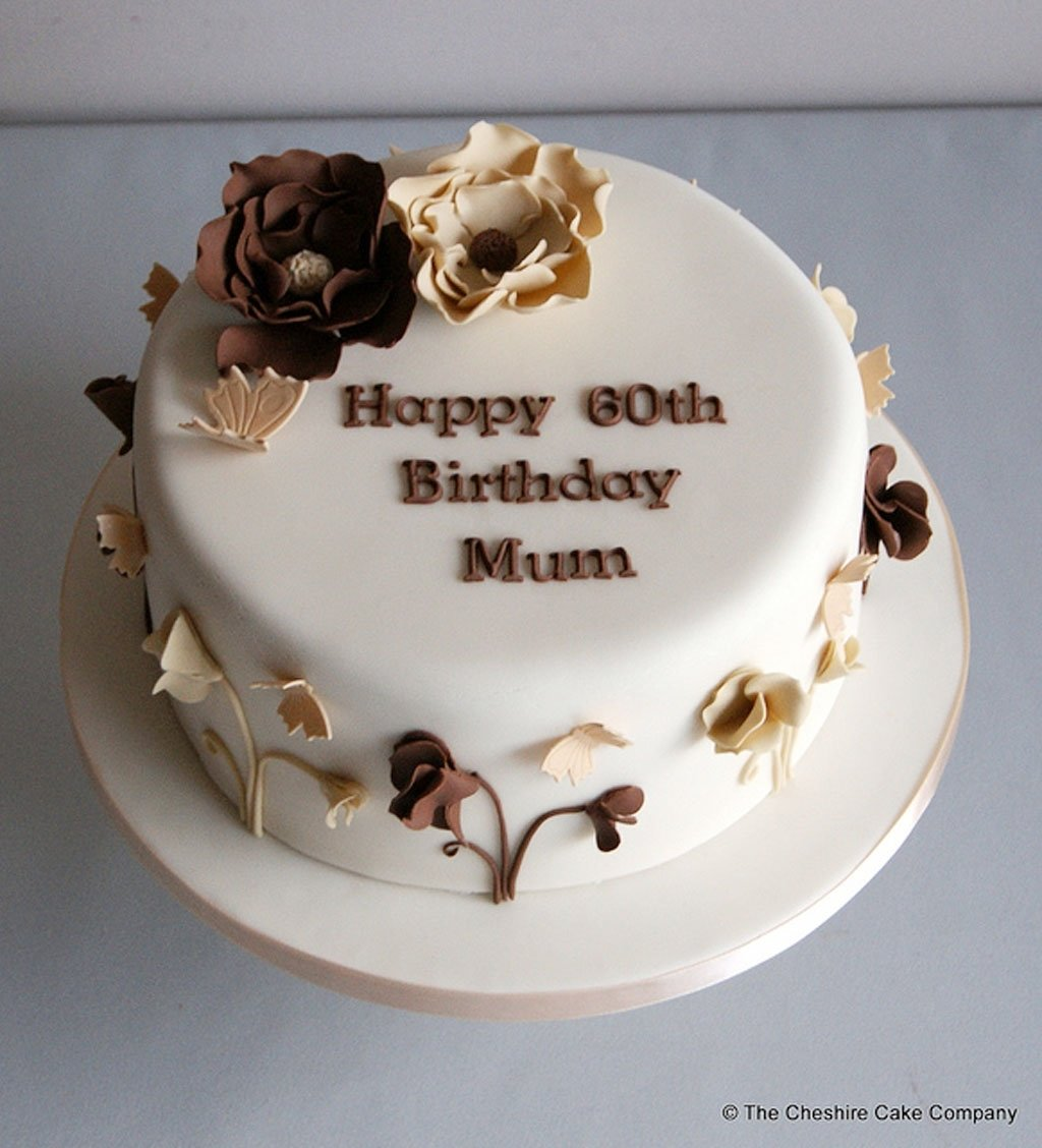 10 Fashionable Birthday Cake Ideas For Mom 60th