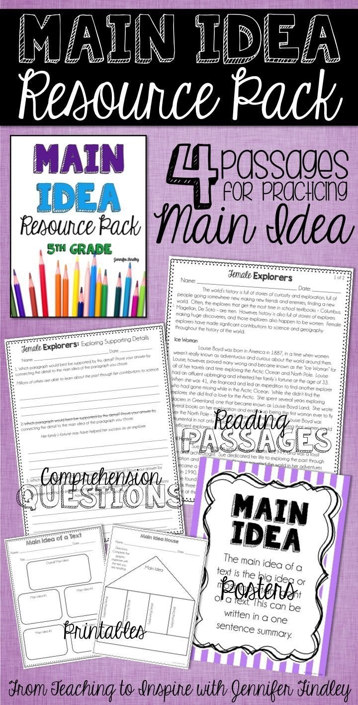 64 best main idea images on pinterest | reading resources, reading