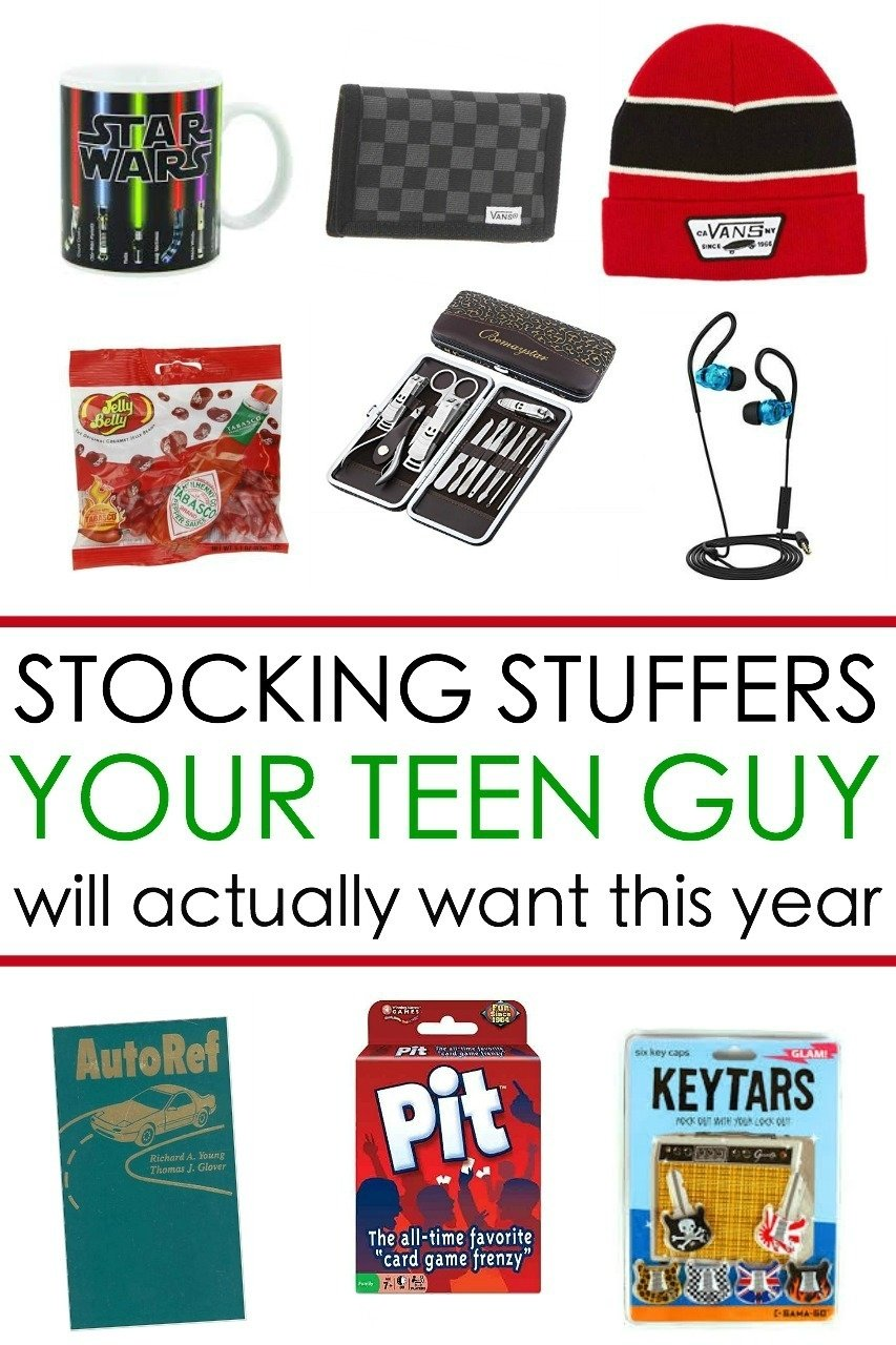 65 awesome stocking stuffers for a teen guy: teen boy gift ideas