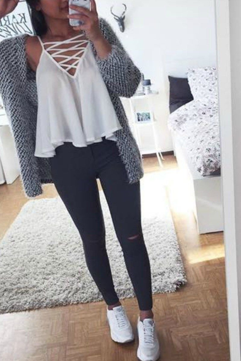 10 Cute Cute Outfit Ideas With Jeans 65 cute fall outfits for school you need to wear now vetement de 2020