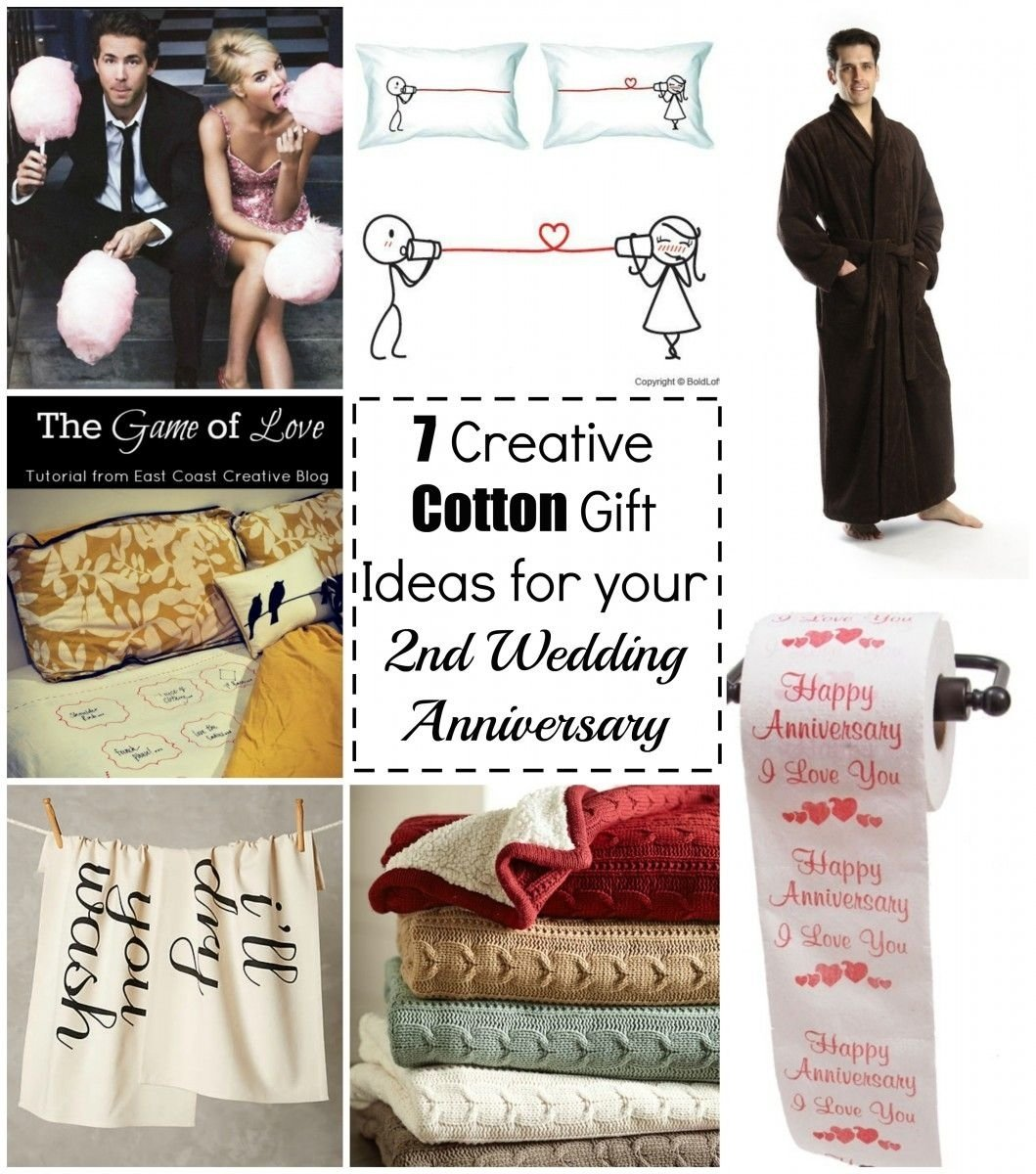 10 Beautiful 2Nd Year Wedding Anniversary Gift Ideas 7 creative cotton gift ideas for your 2nd wedding anniversary 4 2021