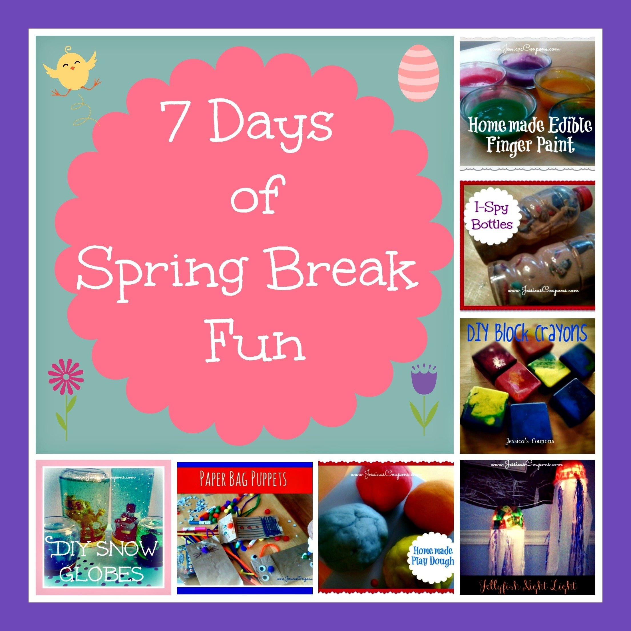 10 Attractive Spring Break Ideas For Kids 7 days of spring break fun crafts projects for the kids 2021