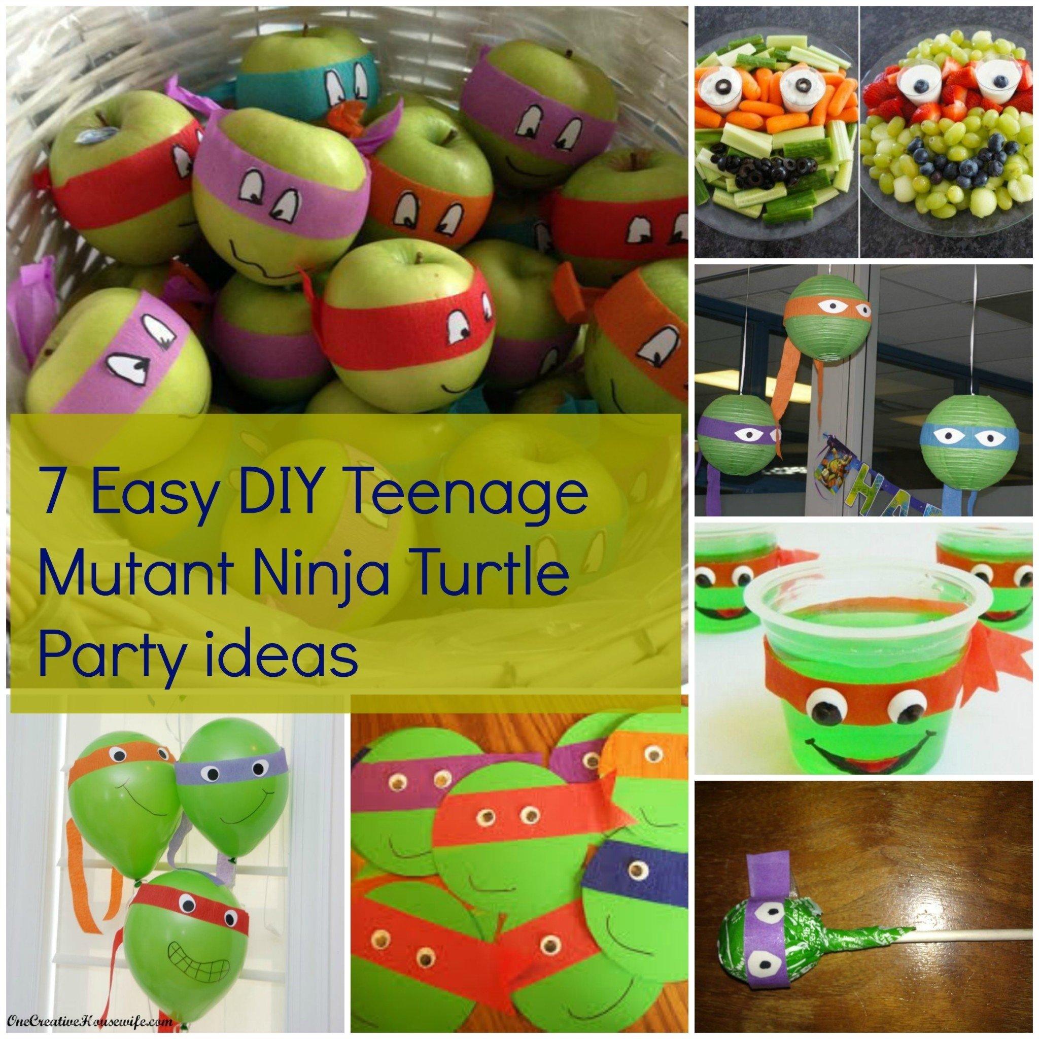 10 Wonderful Teenage Mutant Ninja Turtle Party Ideas 2019