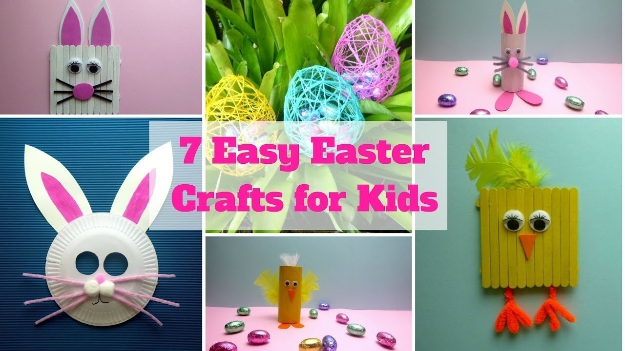 7 easy easter crafts for kids - easter craft ideas - youtube