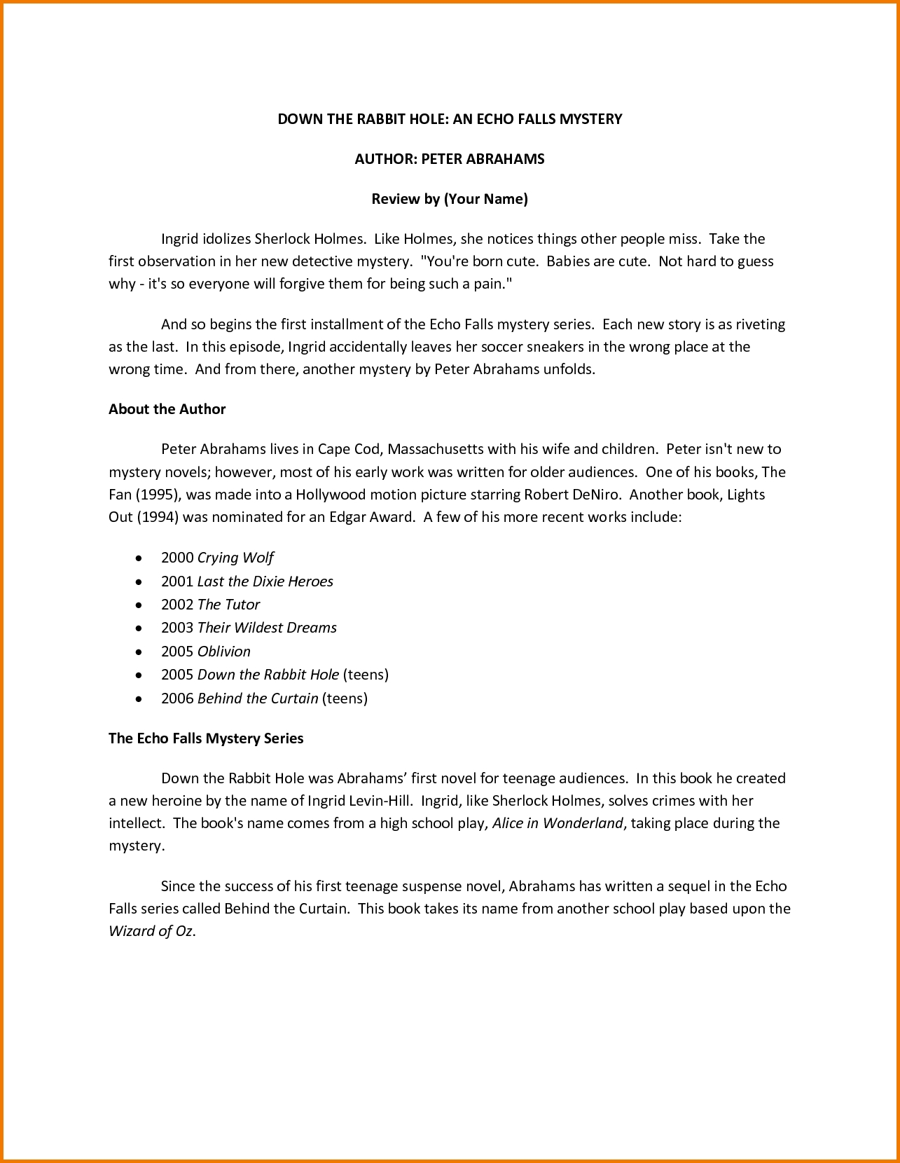 10 Awesome High School Book Report Ideas 7 high school book report template bunch ideas of high school book 2020