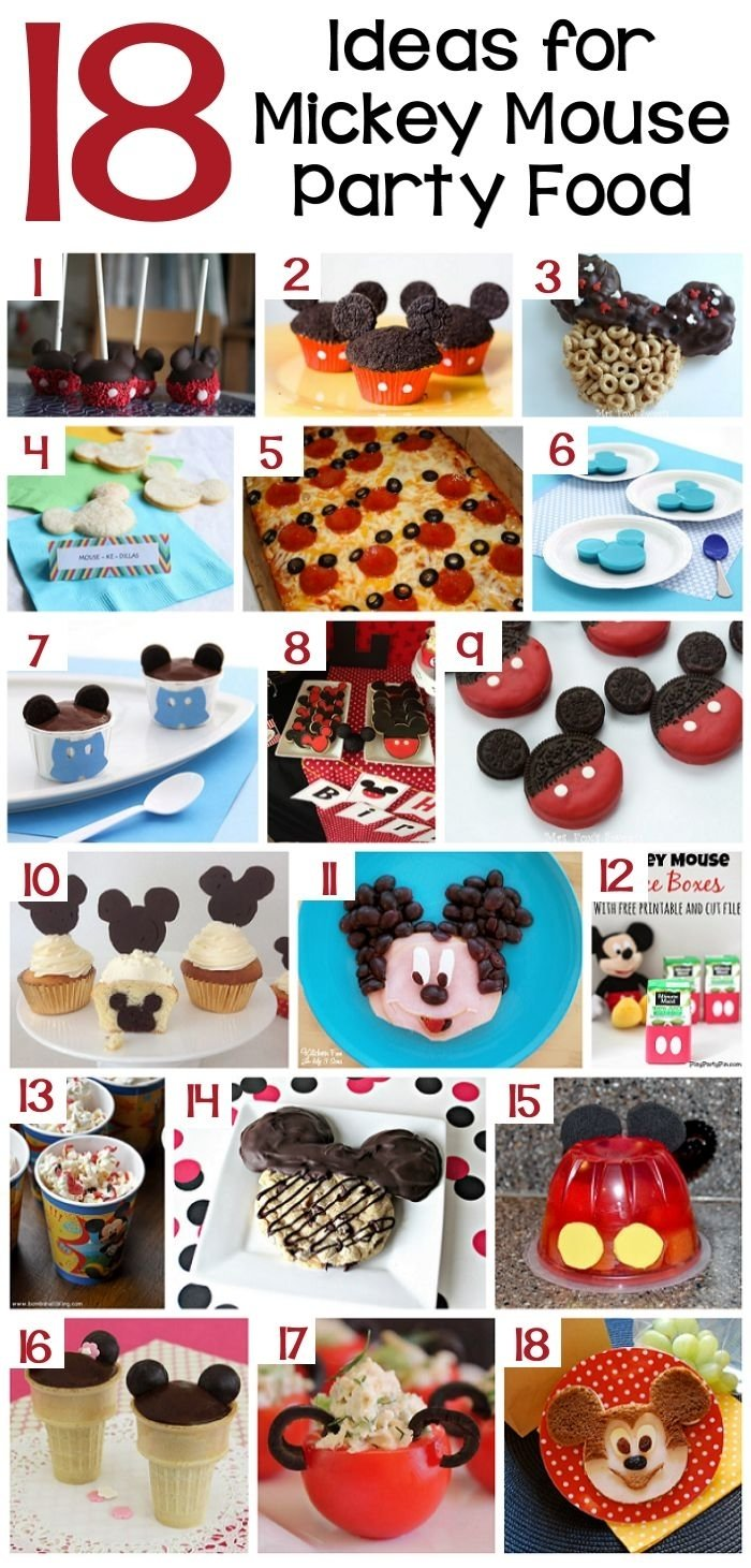 10 Awesome Mickey Mouse Party Food Ideas 70 mickey mouse diy birthday party ideas about family crafts 1