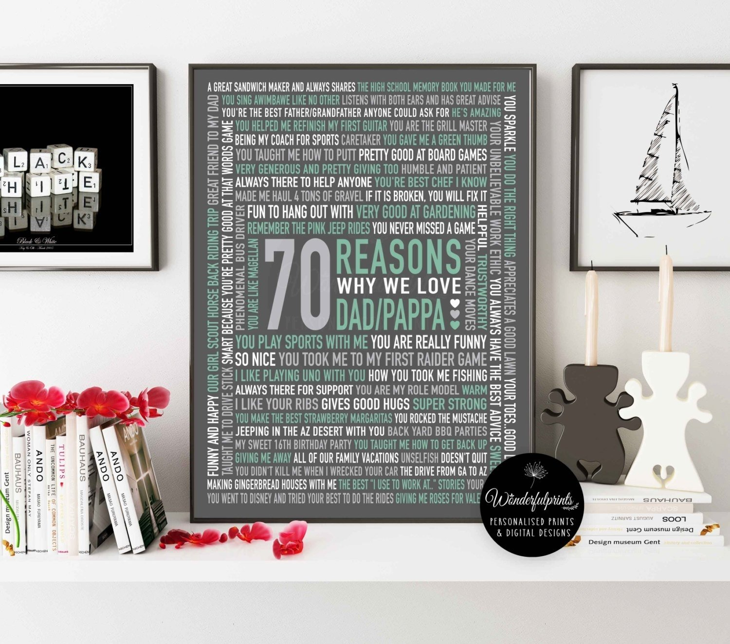 10 Amazing 70Th Birthday Gift Ideas For Men 70 Reasons We Love Dad 70th