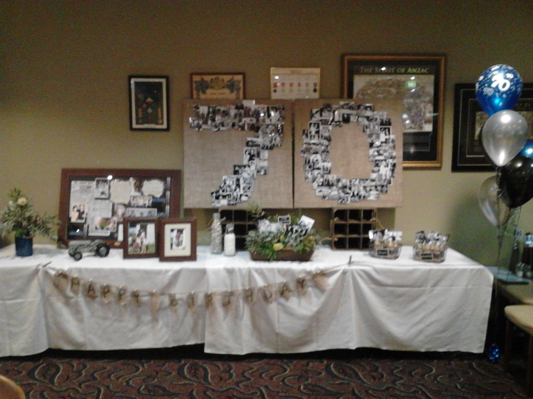10 Nice Ideas For A 70Th Birthday Party 70th birthday decorations i just love the way this looks we 4 2021