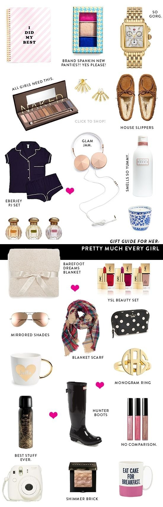 christmas ideas for college girls Crunched for cash but have to buy, like, your entire family gifts we get it check out these adorable goodies under $20 that won't leave you broke at the end of the holiday season.