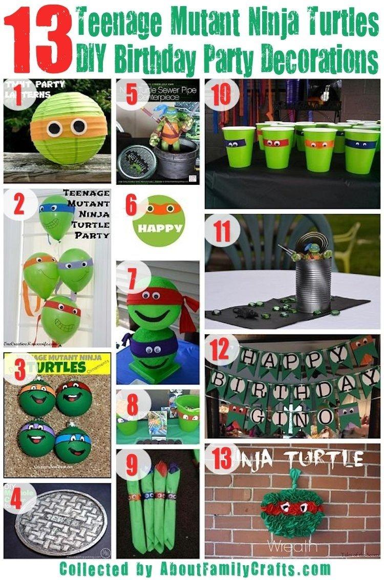 10 Best Ninja Turtle Party Decoration Ideas 75 diy teenage mutant ninja turtles birthday party ideas about 4 2020