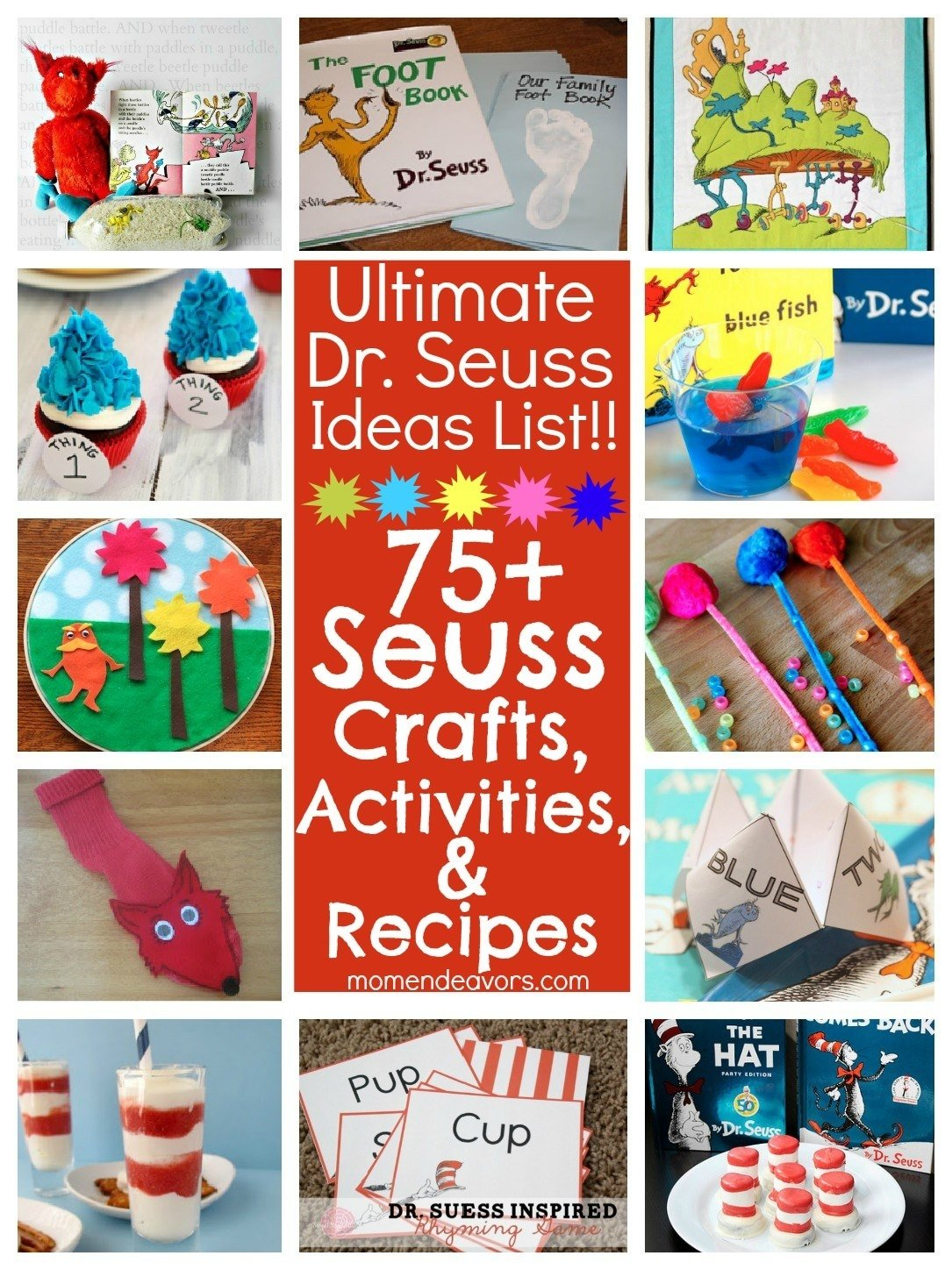 10 Most Popular Cat In The Hat Craft Ideas 75 dr seuss crafts activities and fun foods